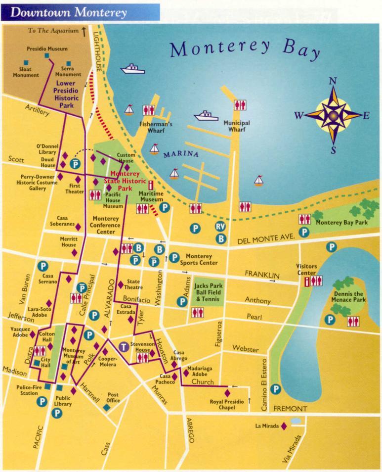 Map Monterey Ca Monterey California USA Cruise Port of Call Map Monterey Ca