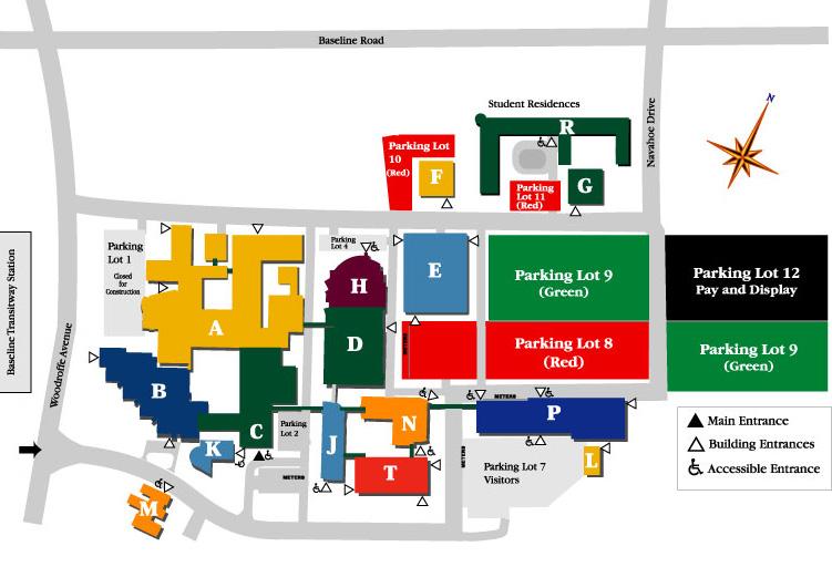 Algonquin College Campus Map POWER & ENERGY SOCIETY OTTAWA Algonquin College Campus Map
